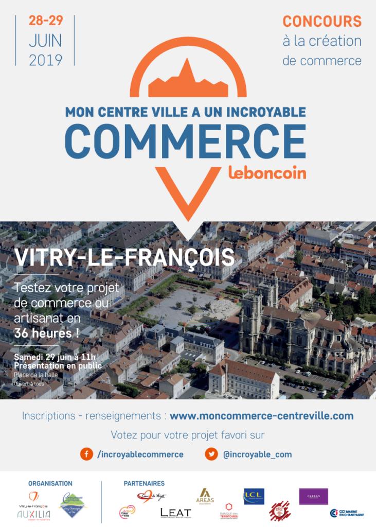 Affiche Mon centre-ville a un incroyable commerce Vitry le François